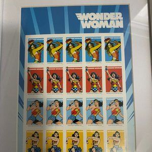 """Wonder Woman """"stamps"""" Collage picture"""